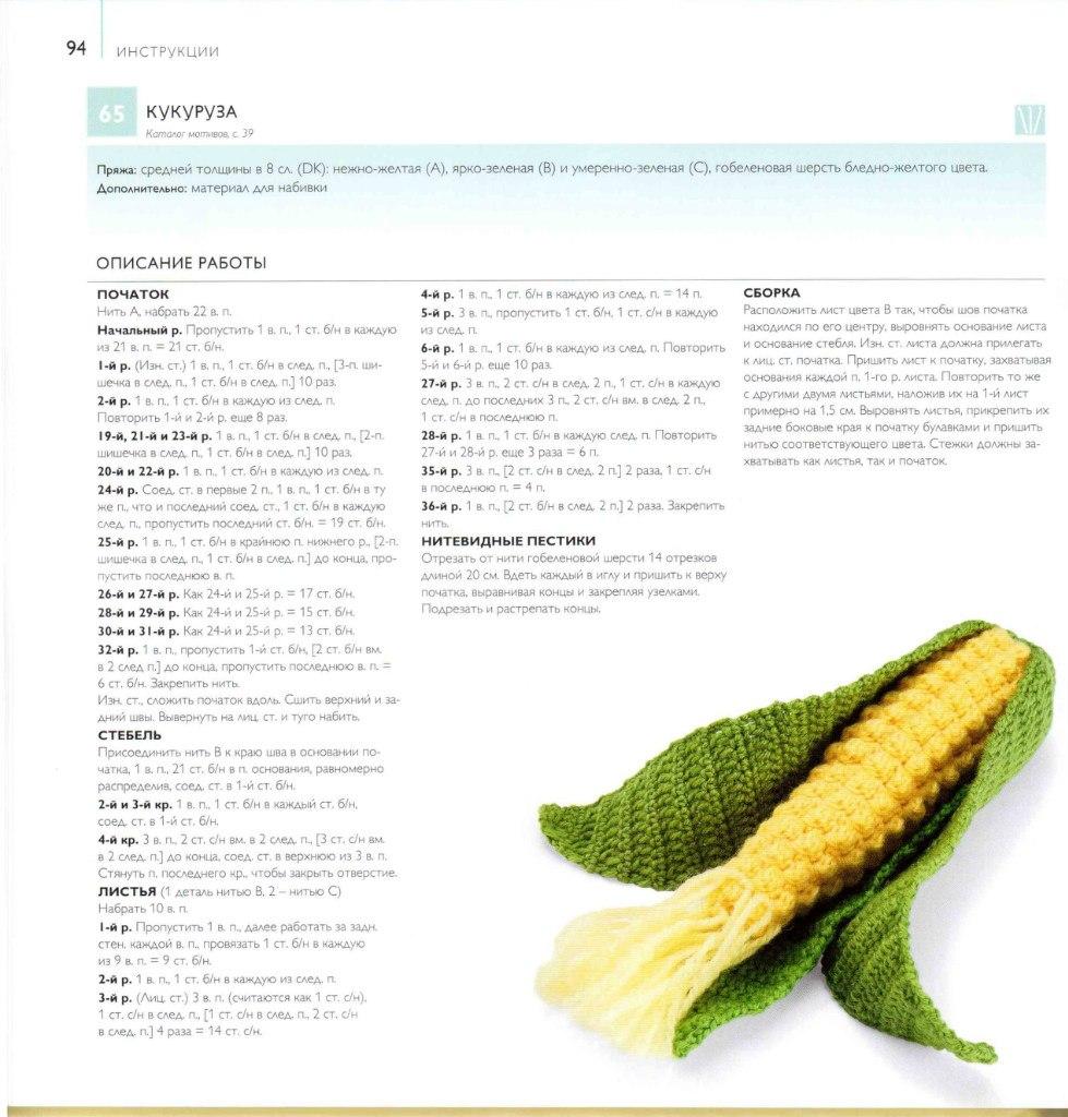 Описание и схемы вязания крючком фруктов