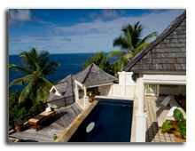 Сейшелы. О. Маэ. Banyan Tree Seychelles. Pool Villa Exterior View Landscape