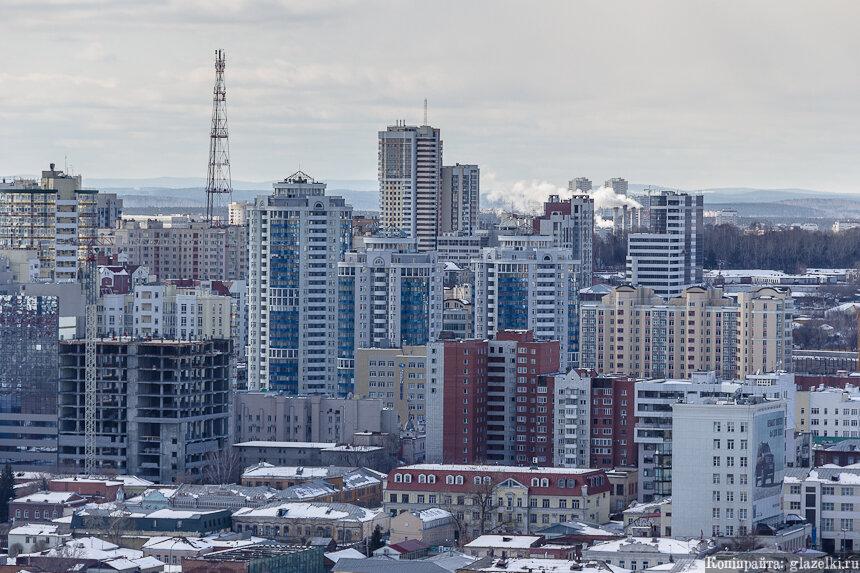 Екатеринбург. Вид с БЦ Антей.