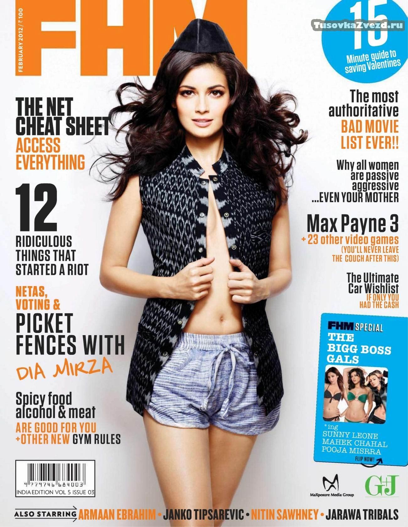 Дия Мирза (Diya Mirza) фото в журнале FHM Индия, февраль 2012
