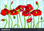 stock-vector-composition-with-poppies-poppies-flowers-angels-stained-glass-window-130036109.jpg