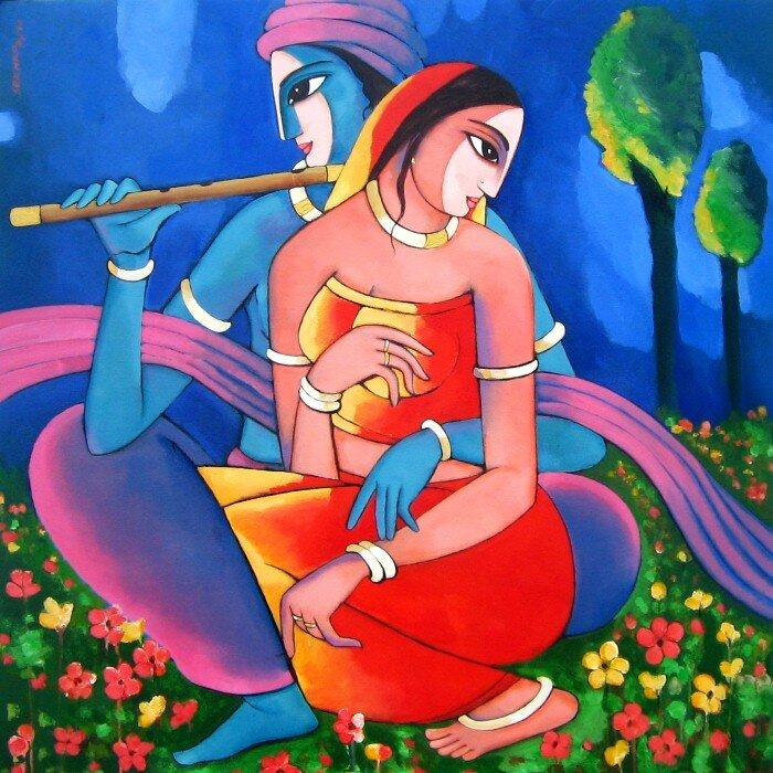 Индийский художник Сехар Рой