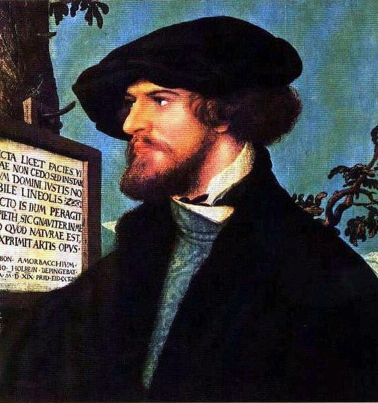 Картины старых мастеров, Ханс Гольбейн Младший, Портрет Бонифация Амербаха