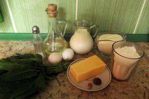 продукты для приготовления зеленых блинов