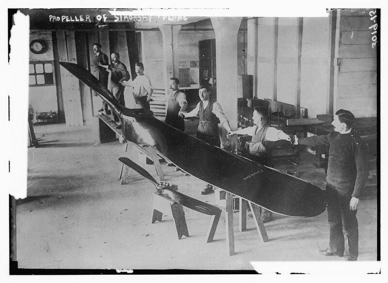 Propeller of Sikorsky Plane.
