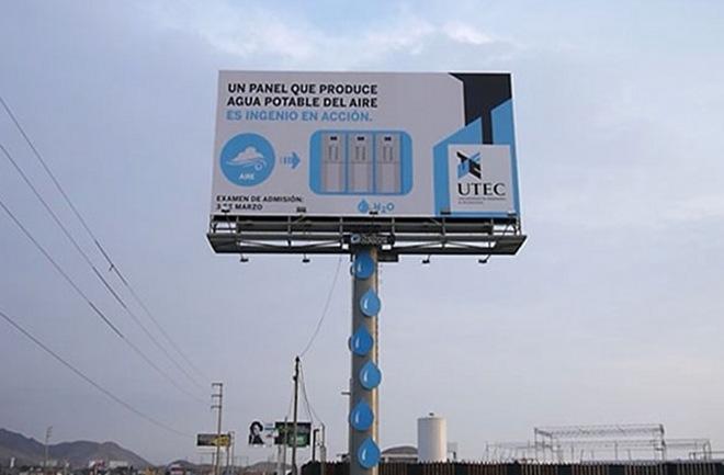 Получение воды с помощью билборда