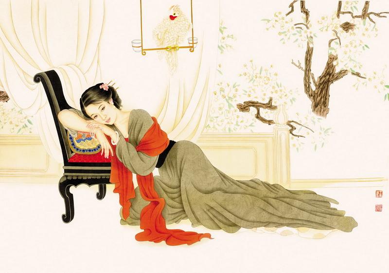 古典美女·工笔画 - 格林浪人 博客