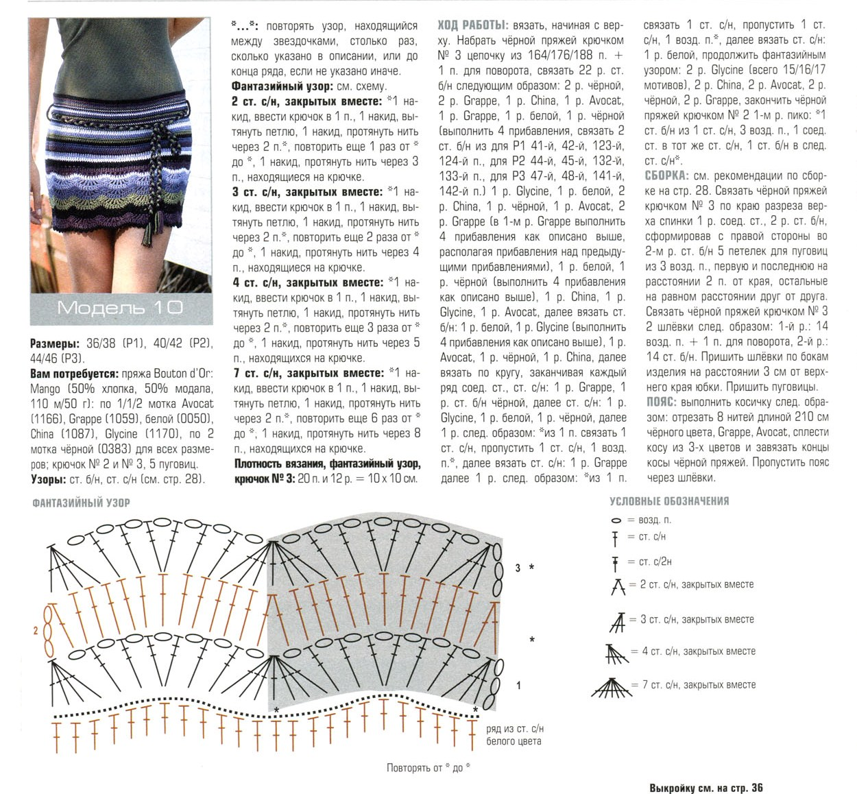 Вязать крючком юбку схемы и описание