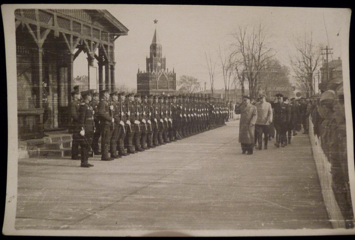 Ворошилов в Венгрии 1956 год