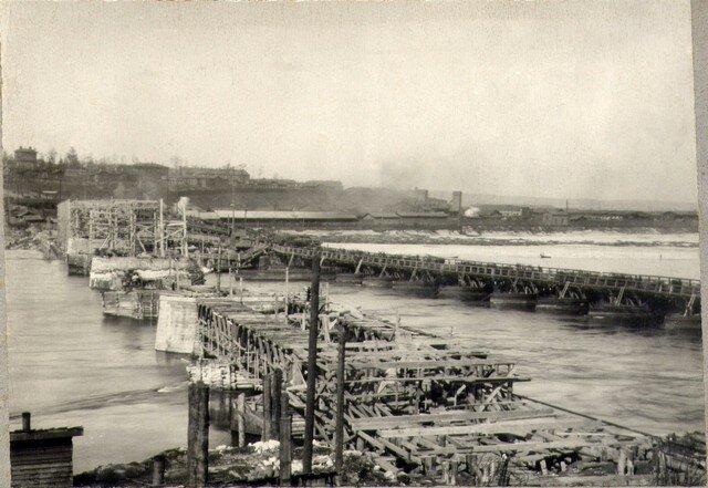 Общий вид постройки. Апрель 1935г.