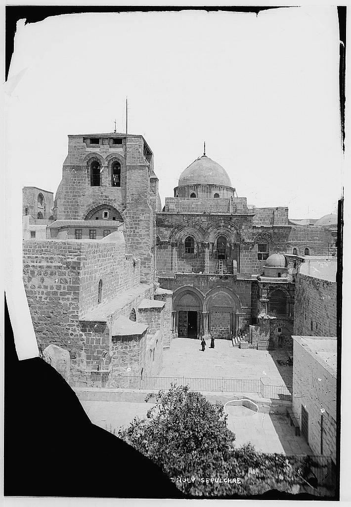 Вид на Храм Гроба Господня с фасада. Между 1900 и 1920.