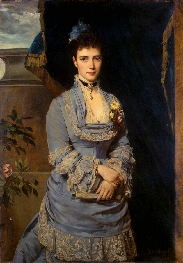 фон Ангели. Портрет великой княгини Марии Федоровны. Будущая Императрица Мария Фёдоровна (жена , будущего Александра III) (1847-1928)1874 г.