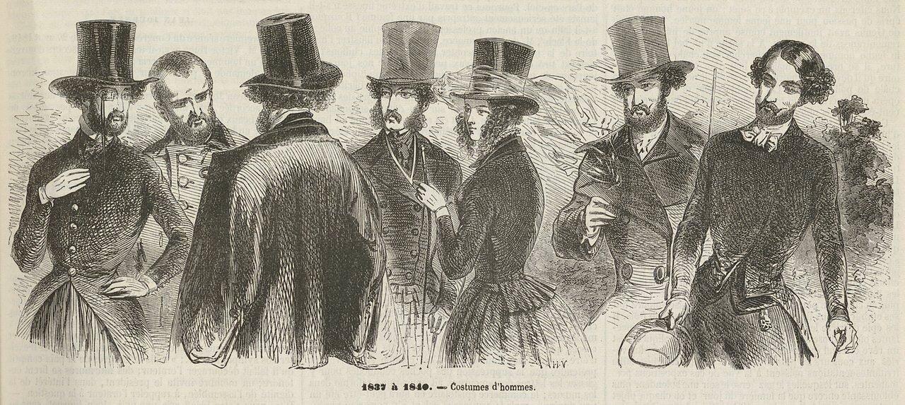 Мужская мода Парижа (1837-1840) 20 October 1849, Анри Валентин(1820-1855)