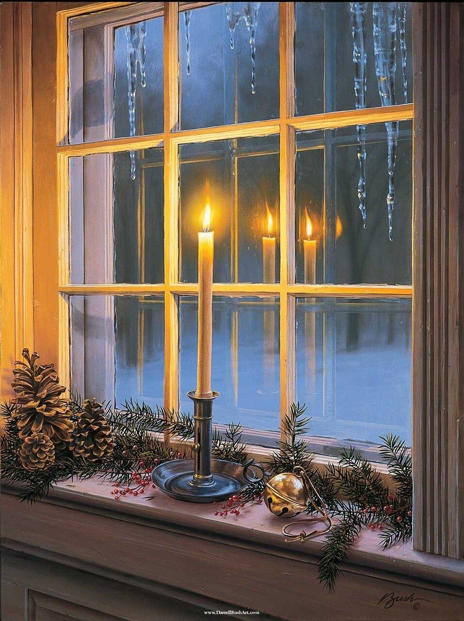 Как сделать за окном фон