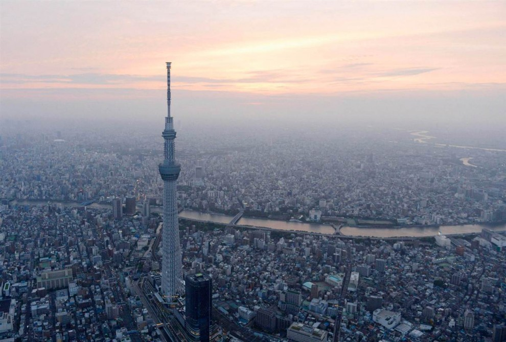 самые высокие архитектурные сооружения в мире - Небесное дерево Токио