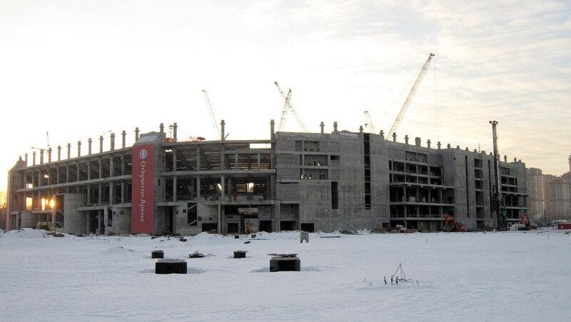 Строительство стадиона «Спартак» начало марта 2013 (Фото)
