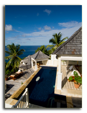 Сейшелы. О. Маэ. Banyan Tree Seychelles. Two Bedroom Double Pool Villa Poolside Lounge