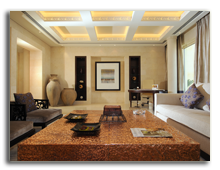ОАЭ. Дубаи. Raffles Dubai. Water Presidential Suite - Living Room