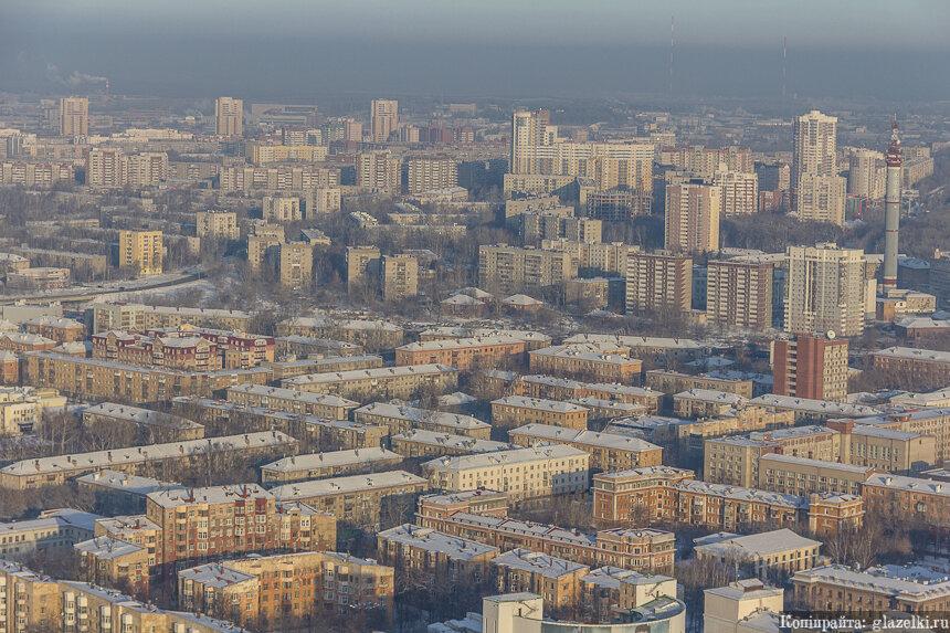 Восточная часть города Екатеринбурга.