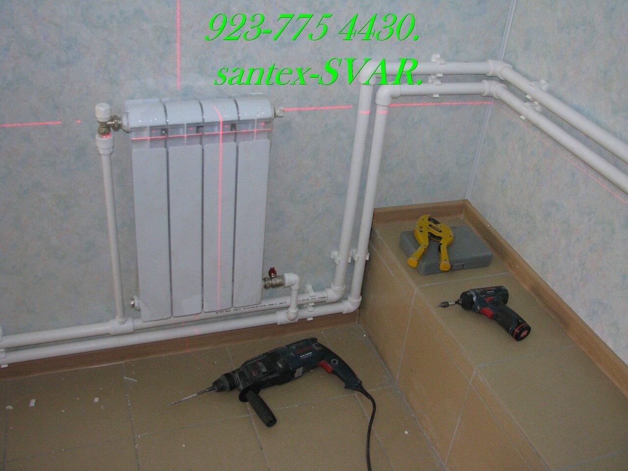 Монтаж радиаторов отопления полипропилен