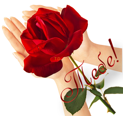 Поцелуйчиком, картинки дарю цветы анимация