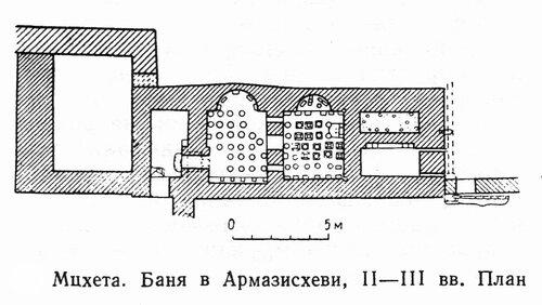 Баня в Армазисхеви, план