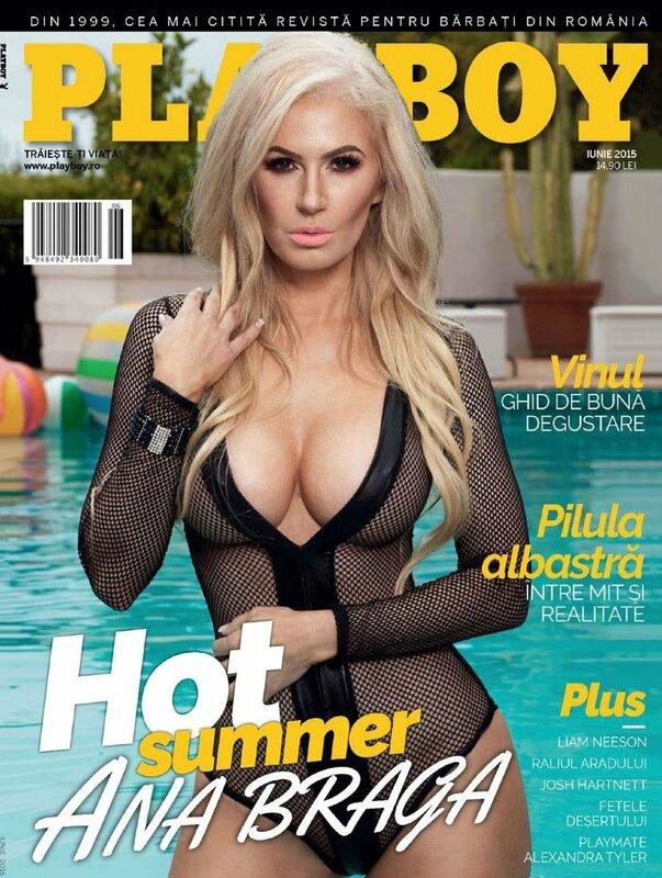 Ana Braga in Playboy Romania june 2015