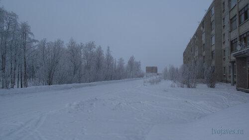 Фото города Инта №3541  Вид в северном направлении от юго-западного кгла Морозова 16 10.02.2013_12:16