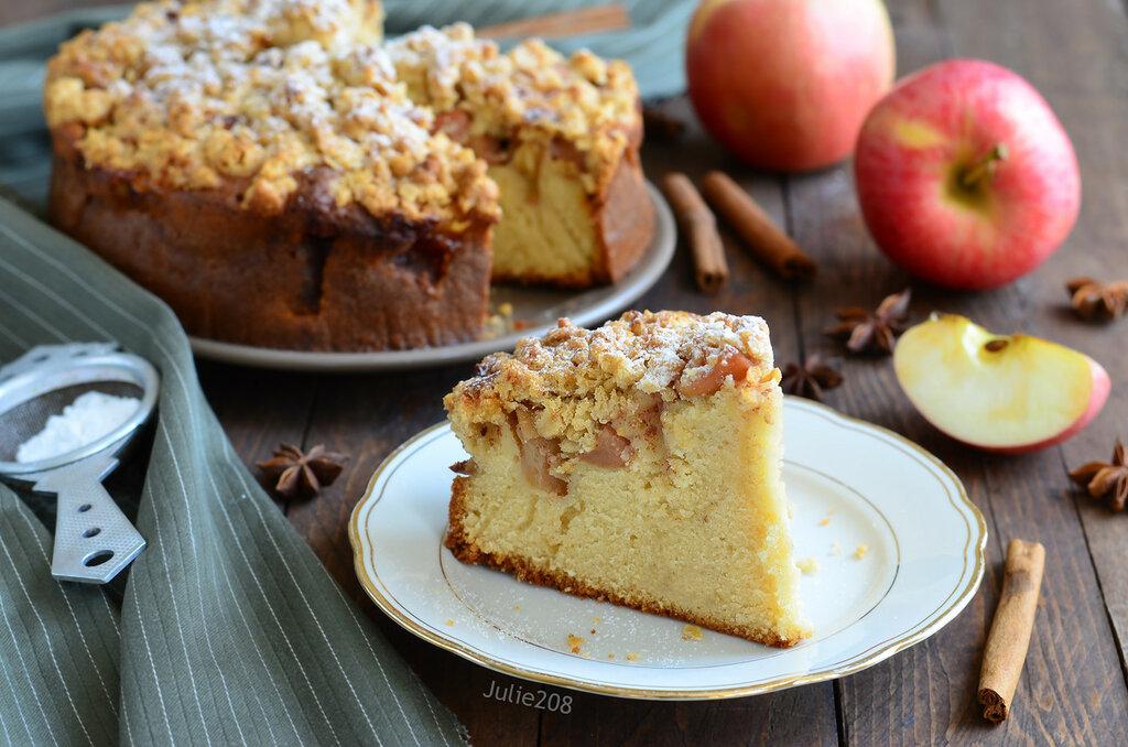 испечь яблочный пирог с фото