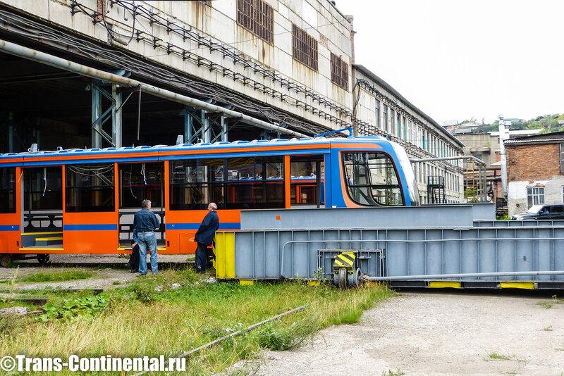 Трамвай на транспордере