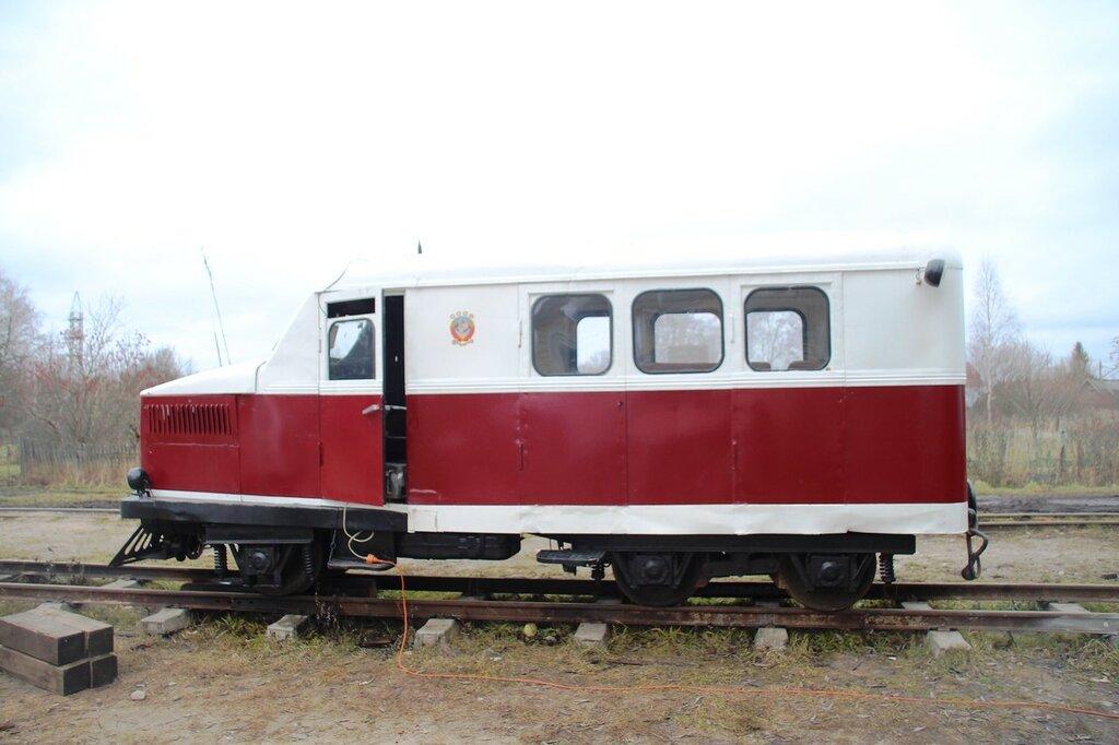 Автодрезина ПД-1, музей Тёсовской узкоколейной железной дороги, 2015