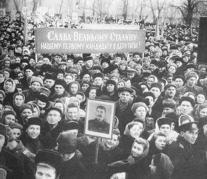 Митинг в поддержку кандидата в депутаты Верховного Совета УССР И. Сталина. Киев, 1951 г.