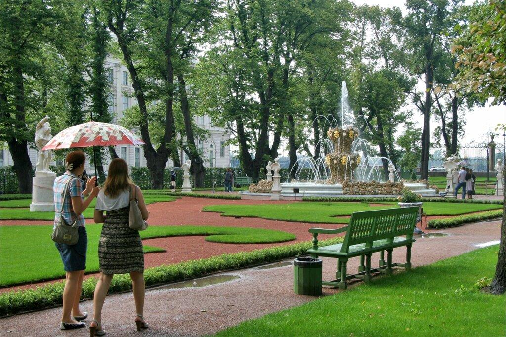"Летний сад, Парадный партер и фонтан ""Коронный"""