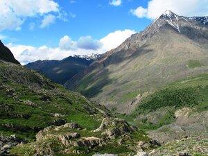 Вид на долину откуда мы поднимались