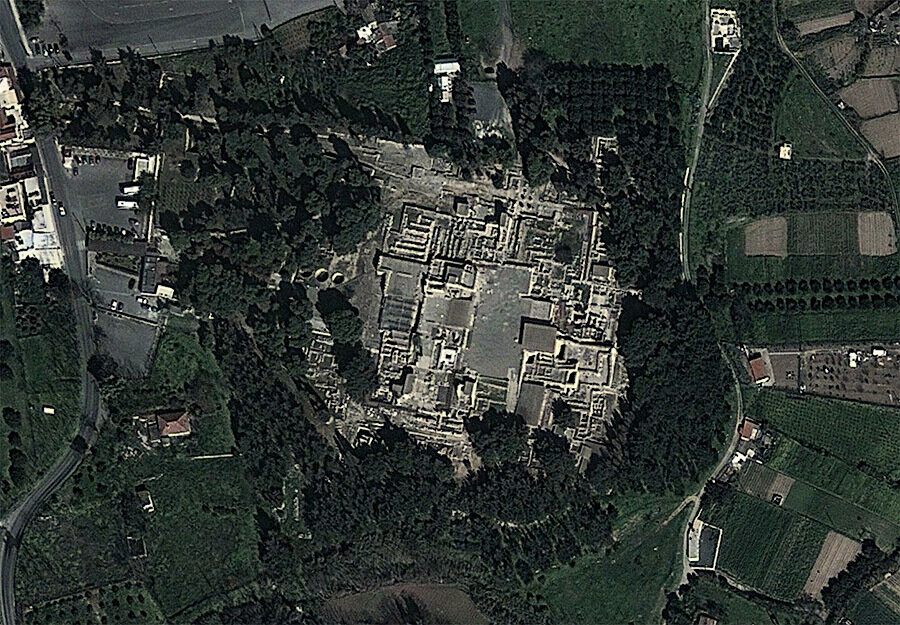 Кносс, вид сверху | Knossos from above