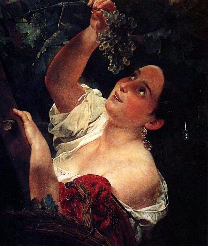 Карл Брюллов, живопись, картины,Итальянский полдень
