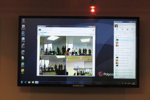 Конференция, собранная через Lync на оборудовании Polycom