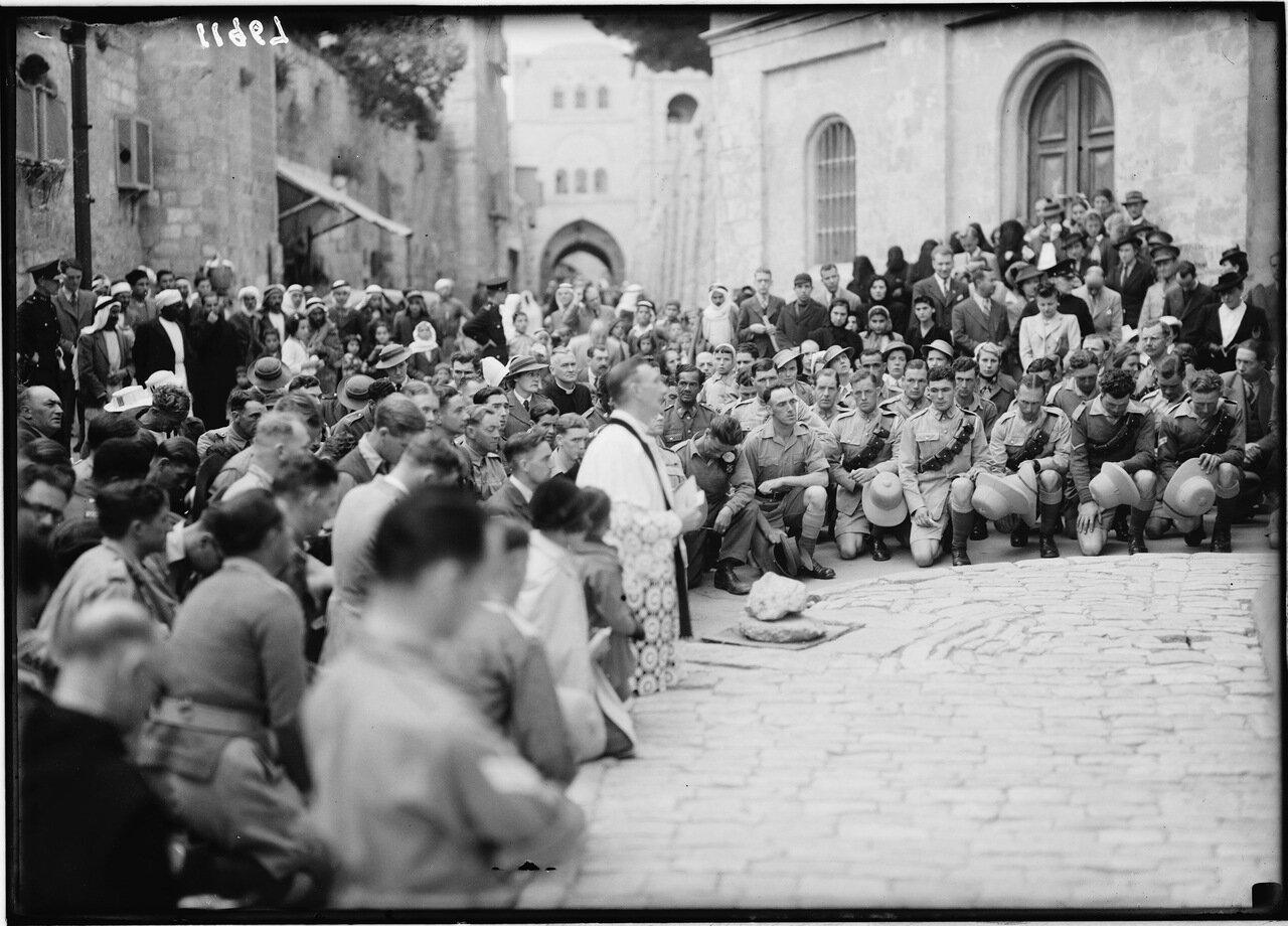 Страстная пятница 1941 г. Третья остановка. Место первого падения Христа.