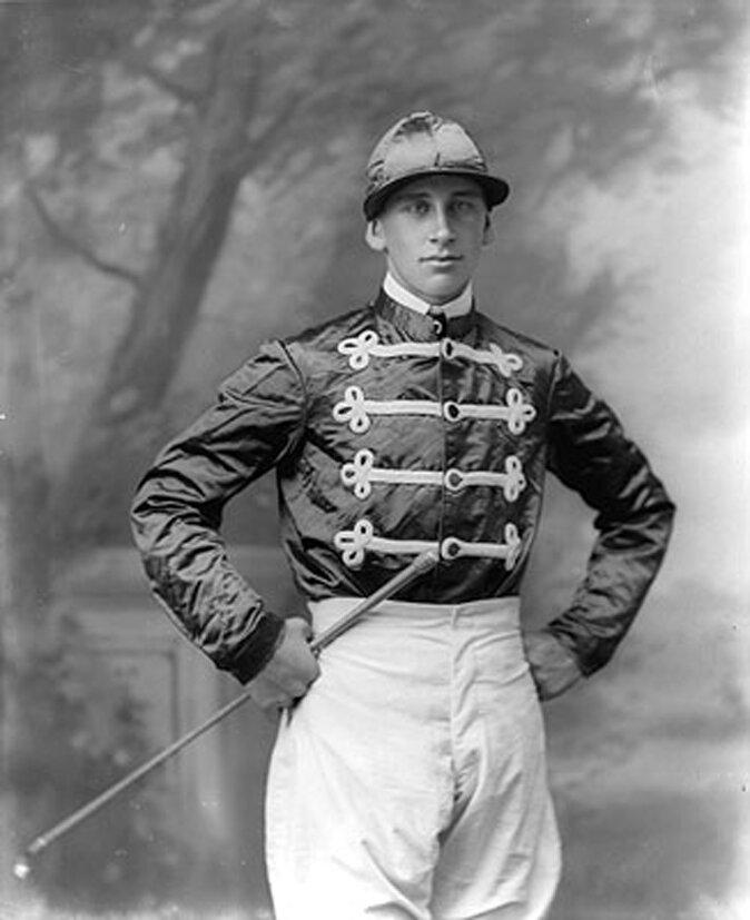 Знаменитый жокей, Джек Виджер, 1900.