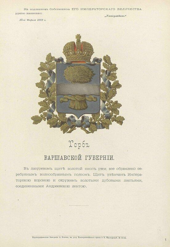 Варшавская губерния 1880 год
