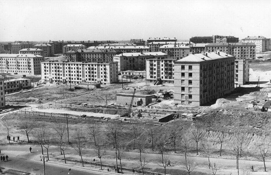 1959. Строительство Первомайского жилого массива