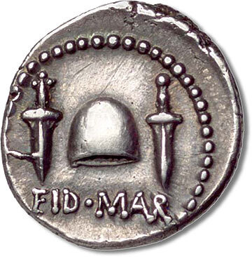 Ides of March coin minted 2056 years ago