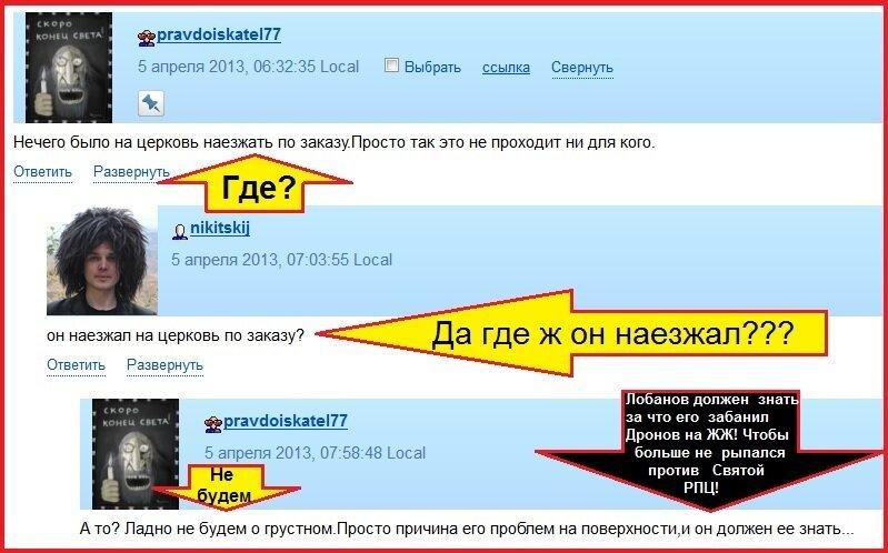Лобанов, Правдоискатель, Никитский, РПЦ, Техномад