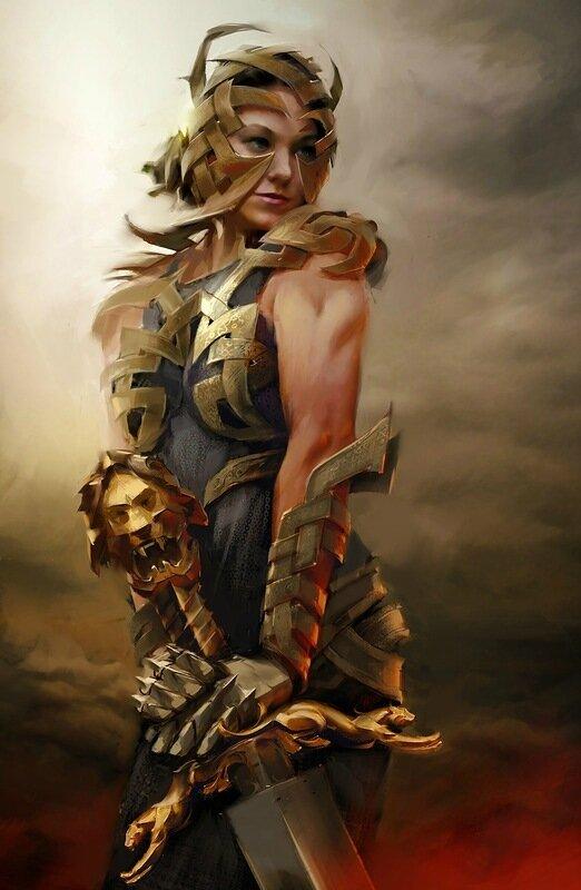 Fantasy warrior concept art