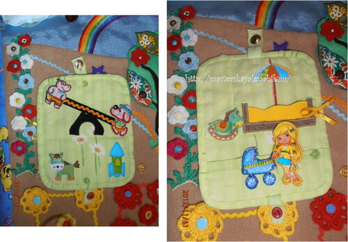 Развивающий коврик для детей. Хенд-мейд идеи