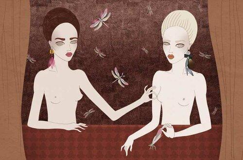 Изящная пародия на голых сестёр
