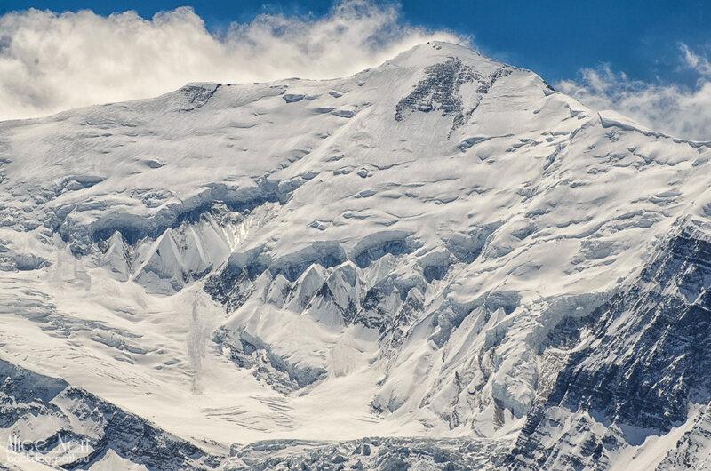 снежные пики, ледник, гималаи, непал
