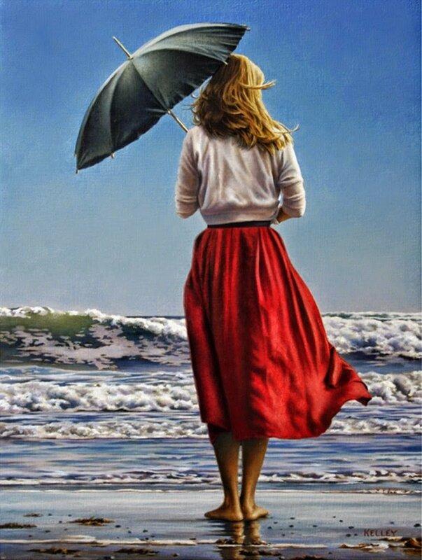 Я мечтаю приехать на море! Художник Paul Kelley