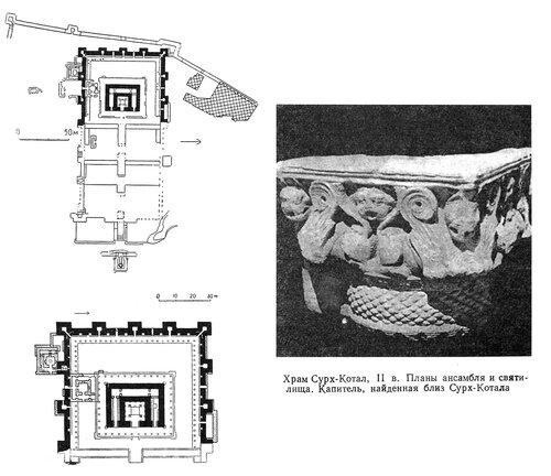Храм Сурх-Котал, план