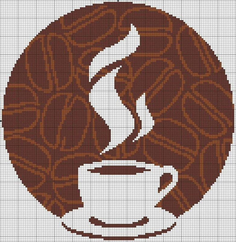 Чашка кофе.Вышивка..